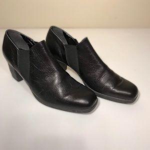 Aerosoles black booties, size 11